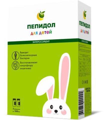 Пепидол ПЭГ 3проц р-р 2х250мл  для детей