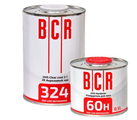 324 BCR Лак UHS 2K Clear Coat 2:1 1L + 60Н Отвердитель  UHS 2K Hardener 0,5L