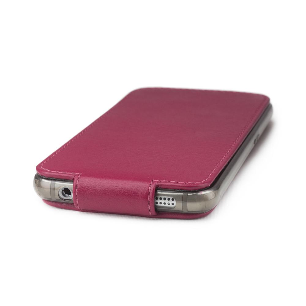 Чехол для Samsung Galaxy S6 из натуральной кожи теленка, цвета малины