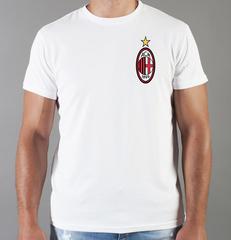 Футболка с принтом FC ACM Milan (ФК Милан) белая 008