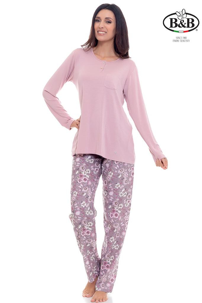 Домашний костюм с цветочными брюками B&B
