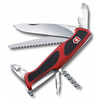 Нож Victorinox RangerGrip 55, 130 мм, 12 функций, красный с чёрным, блистер