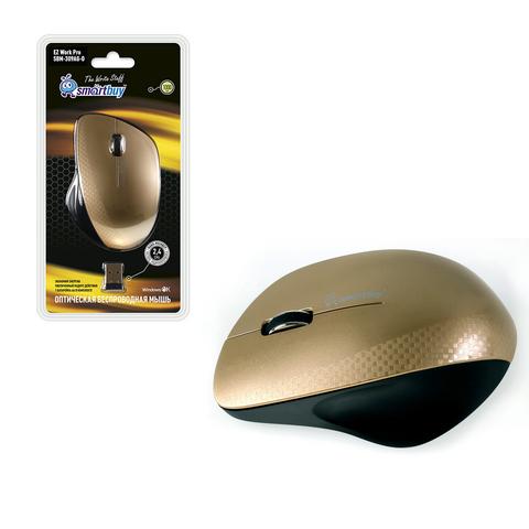 Мышь беспроводная ONE SBM-309AG-O черно-золотой SMARTBUY