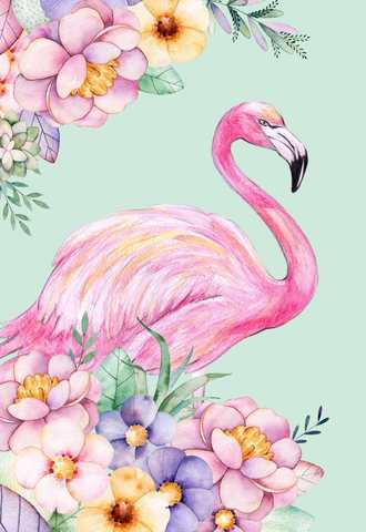Алмазная Мозаика 50x65 Розовый фламинго