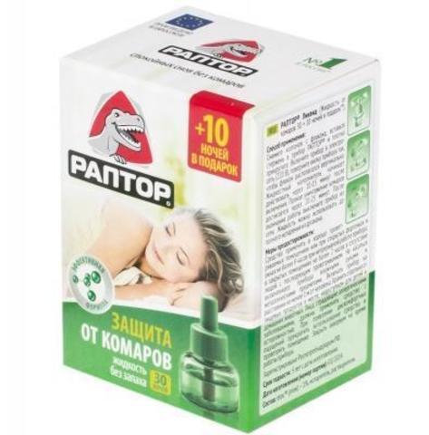 Жидкость от комаров Раптор 30 ночей G9560