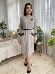 Камелия. Красивое женское платье больших размеров. Бежевый
