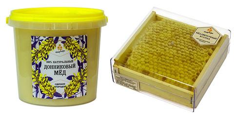Комплект натурального меда: донниковый мед (1400 грамм) и сотовый мед (350 грамм)