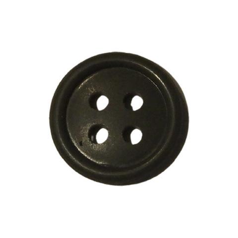 Пуговица пласт. 20 мм с 4 отверст. оливковая
