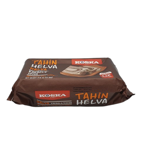 Халва кунжутная с какао KOSKA, 500 гр