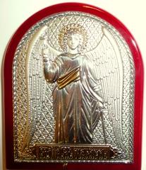 Серебряная с золочением икона Ангела Хранителя 16х12см