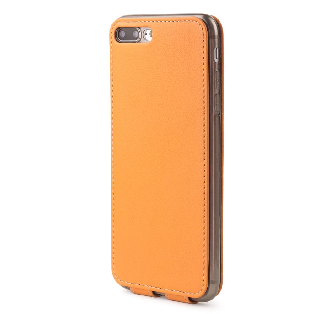 Чехол для iPhone 8 Plus из натуральной кожи теленка, цвета охры
