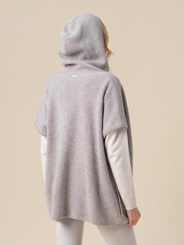 Женский жилет светло-серого цвета из 100% кашемира - фото 4