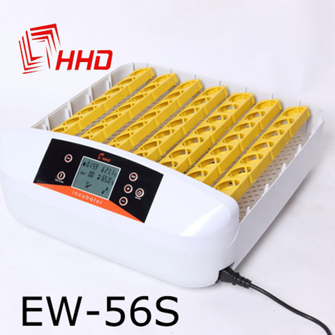 Инкубатор для перепелиных и куриных яиц HHD 56 с овоскопом и ЖК дисплеем,фото