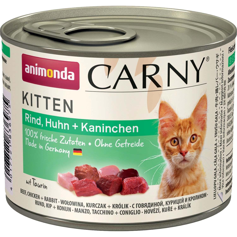 Animonda Carny Kitten - Beef, Chicken Rabbit