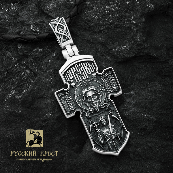 крест якорь