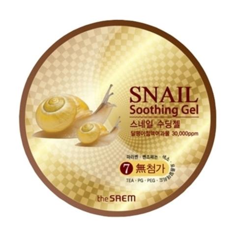 The Saem Snail Soothing Gel универсальный гель для лица и тела с улиточным экстрактом
