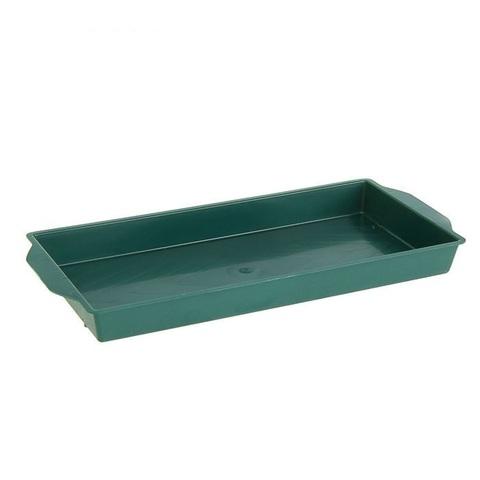 Поддон 26х12,5х2,5см, цвет:зеленый