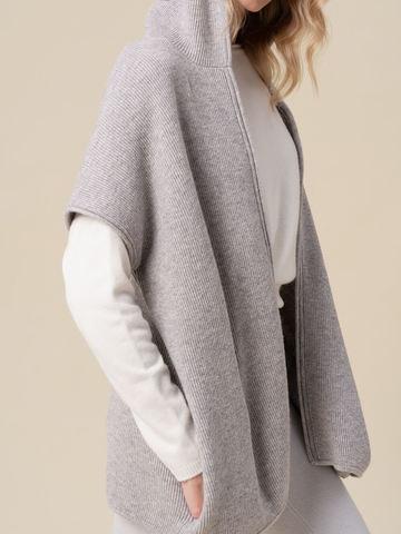 Женский жилет светло-серого цвета из 100% кашемира - фото 3
