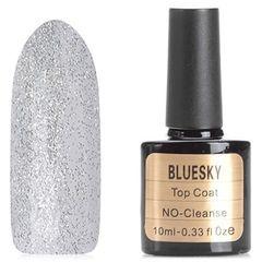 Bluesky, Топ для гель-лака с белыми блестками, 10 мл