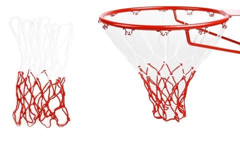Сетка баскетбольная двухцветная :8-2С