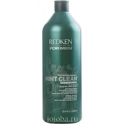Redken For Men: Тонизирующий шампунь для волос и кожи головы (Mint Clean Shampoo), 1л