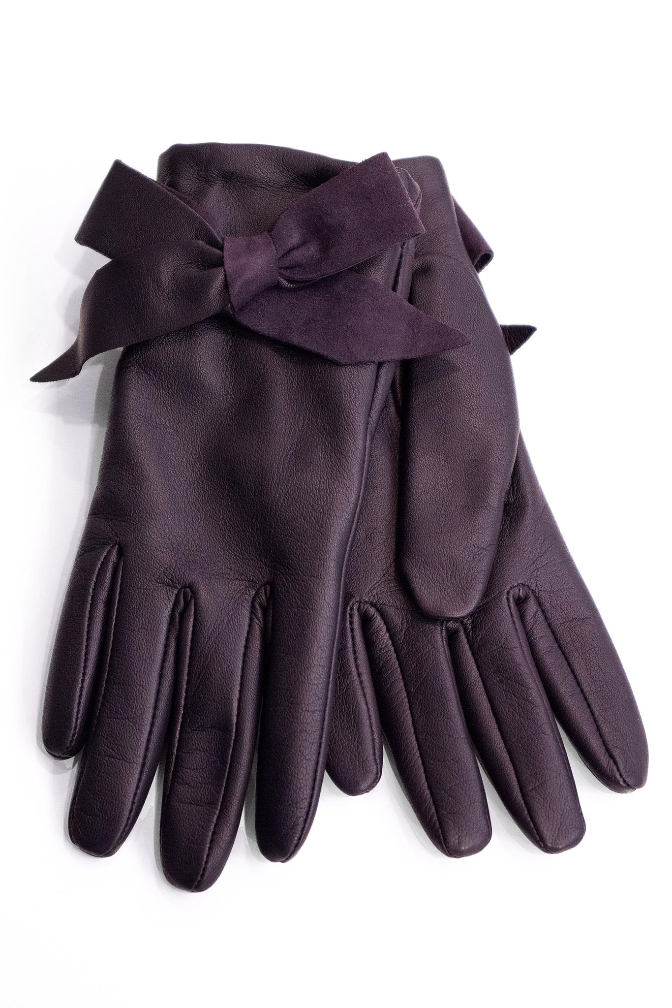 Roeckl Перчатки кожаные с бантом