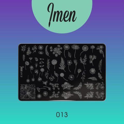 Пластина Imen для стемпинга #013