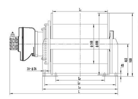 Стандартная лебедка IYJ56-120-160-30-ZP
