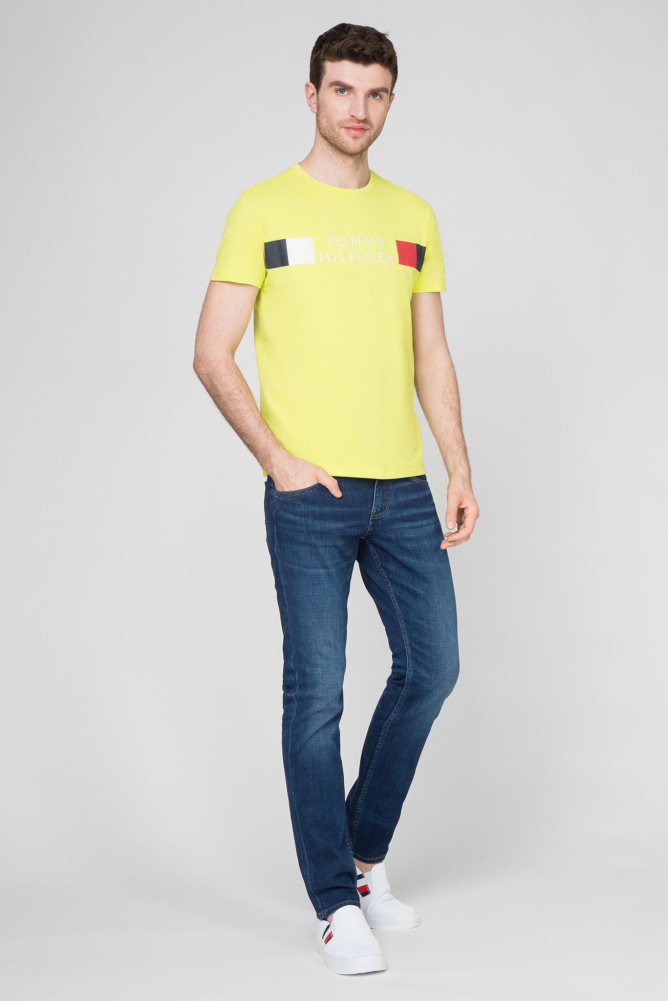 Мужская желтая футболка RWB STRIPE Tommy Hilfiger