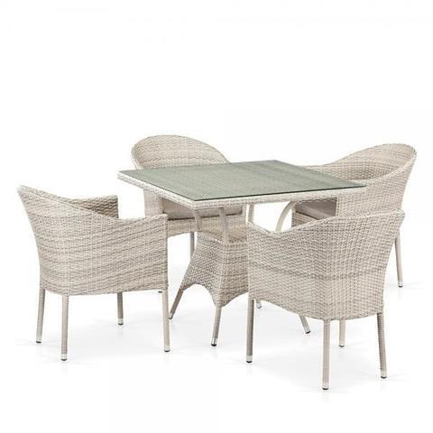 Комплект плетеной мебели из искусственного ротанга T190B/Y350A-W85-90x90 Latte 4Pcs