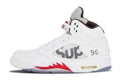 Air Jordan 5 Retro x Supreme 'White'