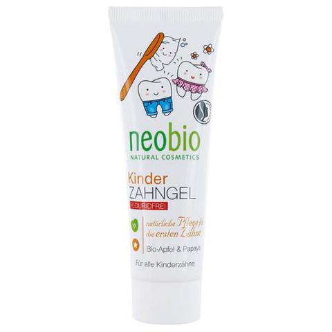 Neobio, Гелевая зубная паста для детей без фтора с био-яблоком и папайей, 50мл