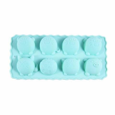 """6549 FISSMAN Форма для льда и шоколада """"Куглые зверята"""" 22x10,5x2,8 см,  купить"""