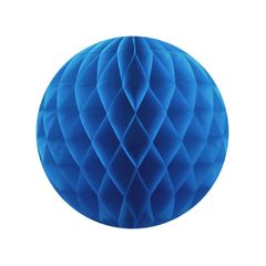 Бумажный Шар-соты, Синий, 40 см