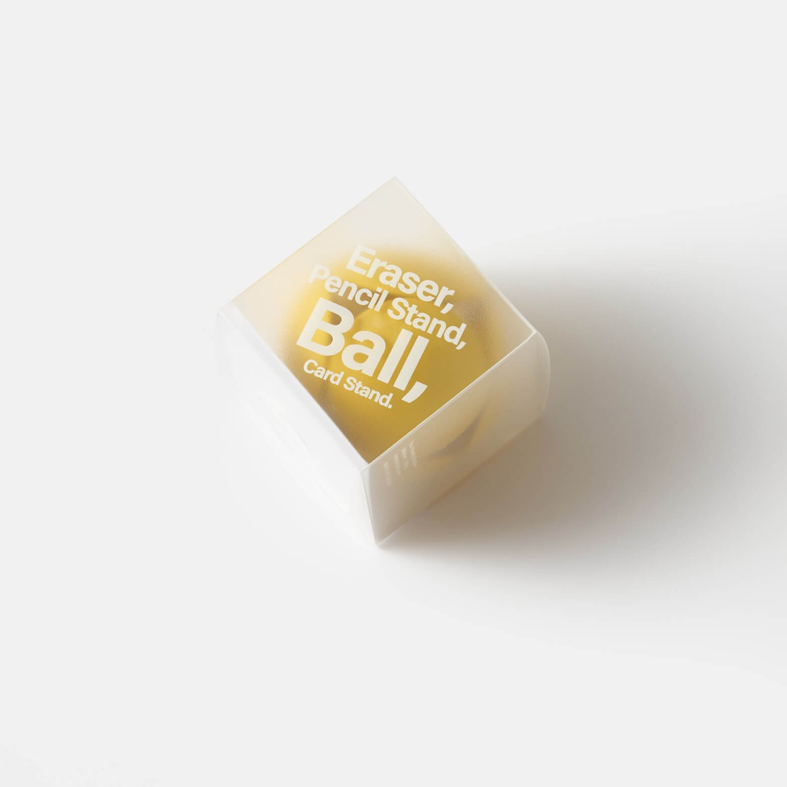 HMM Eraser Ball — ластик-подставка: жёлтый
