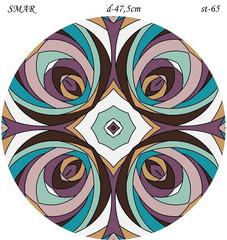 Эскиз для росписи, Круг диаметр-47,5см, SMAR-st-65