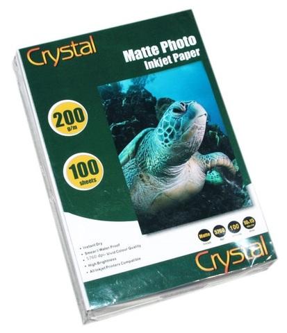 Фотобумага Crystal 200г/м2, 10x15 100л. мат
