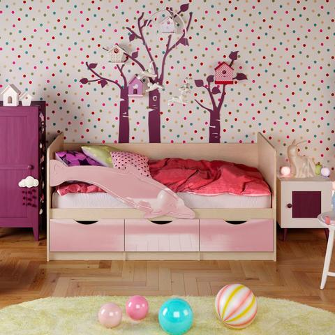 Кровать Дельфин-1 розовый