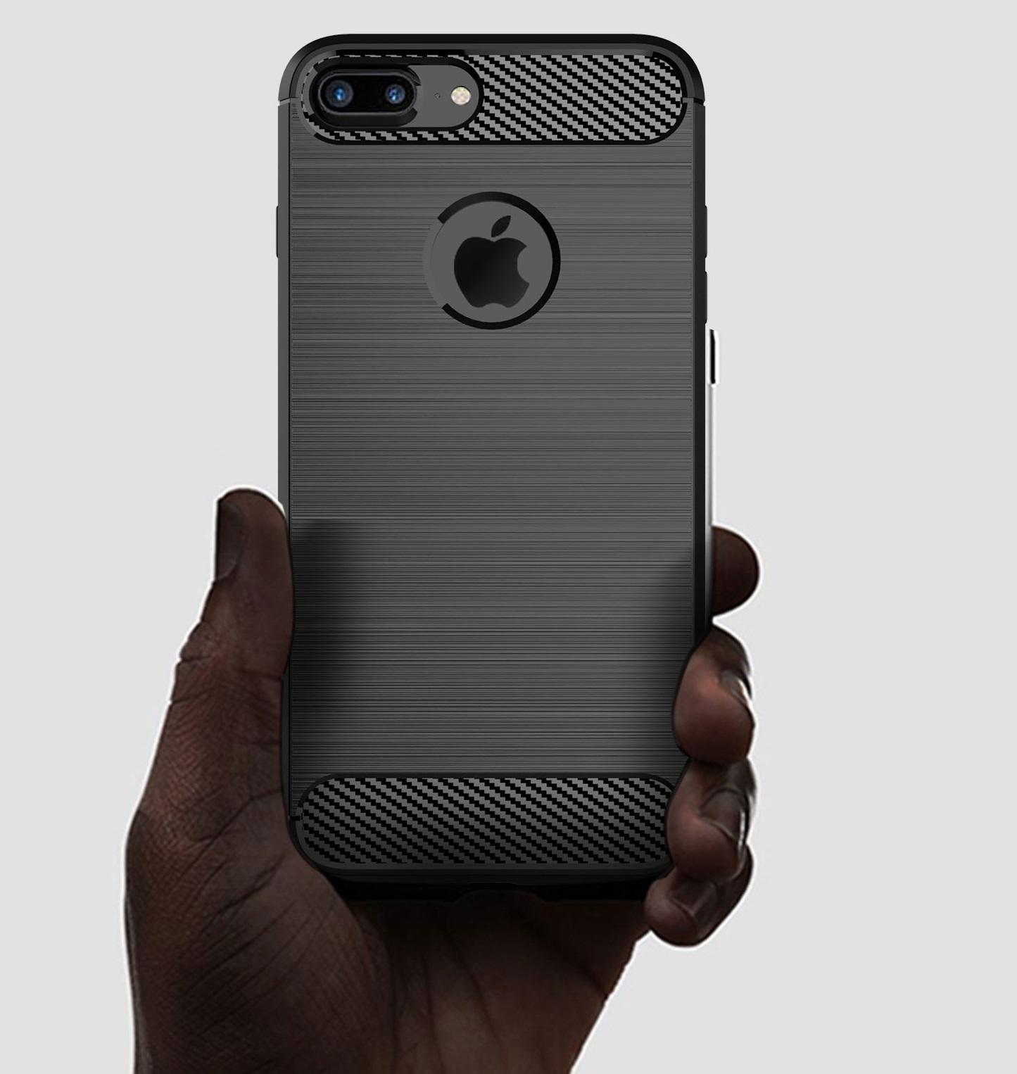 Чехол iPhone 8 Plus цвет Blue (синий), серия Carbon, Caseport
