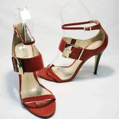 Красивые женские босоножки на высоком каблуке Via Uno1103-6605 Red.