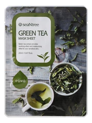 SeaNtree Тканевая маска с экстрактом зеленого чая Green Tea Mask Sheet, 1 шт