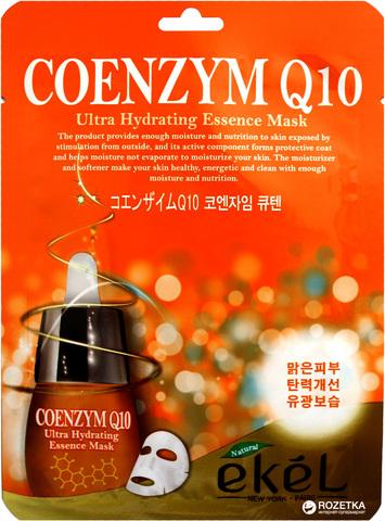 Тканевая маска с коэнзимом Q10 EKEL Coenzym Q10 Ulyra Hydrating essence pack