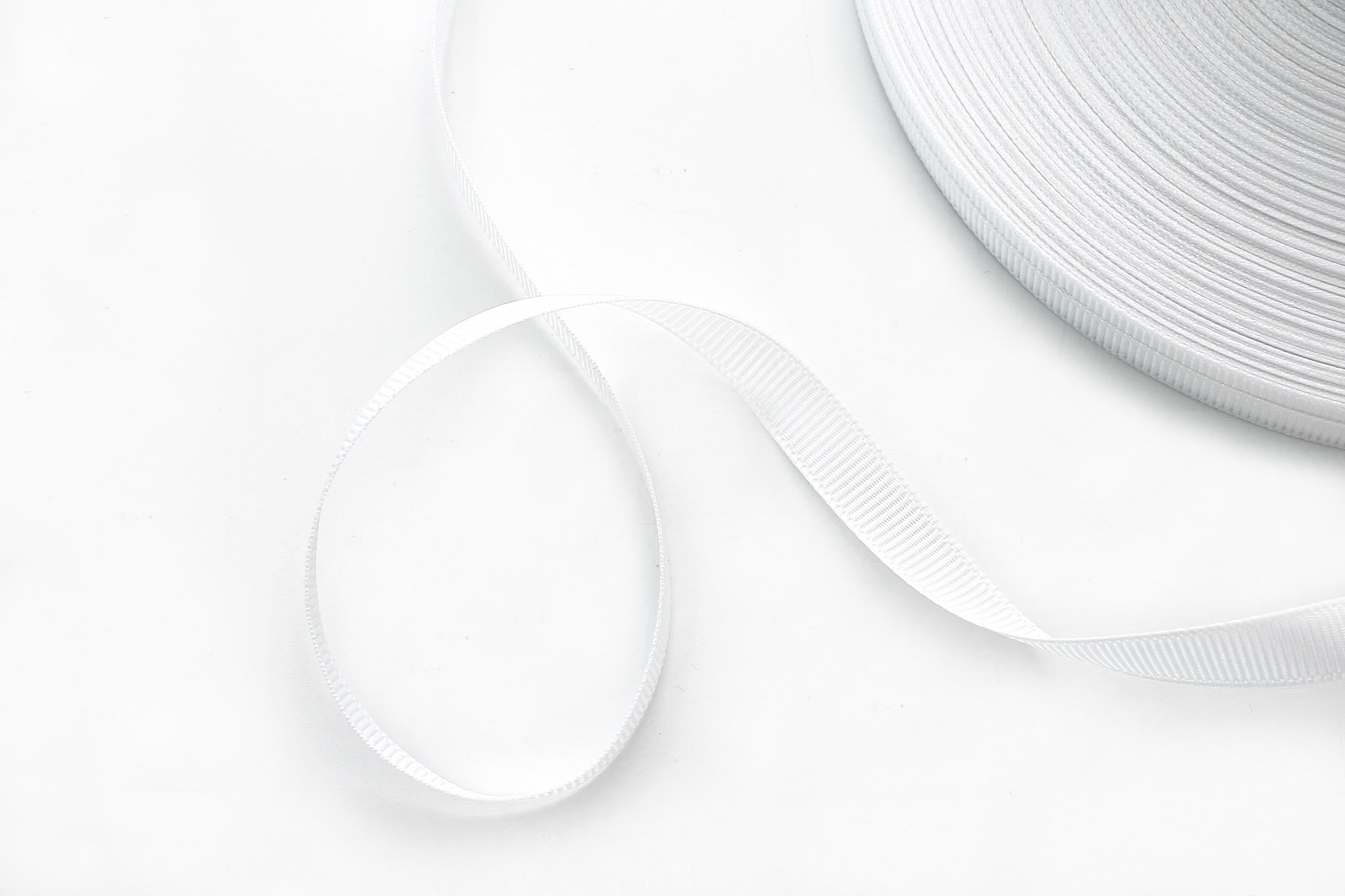 Лента репс. белая,1 см