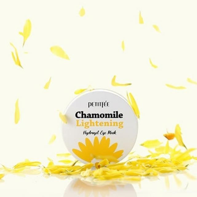 Petitfee Chamomile Lightening Hydrogel Eye Mask патчи для глаз