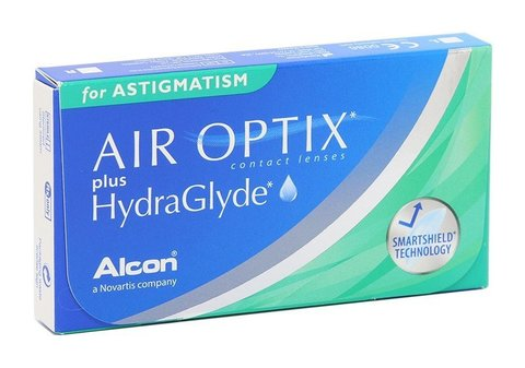 Контактные линзы AIR OPTIX PLUS HYDRAGLYDE FOR ASTIGMATISM - 3шт.