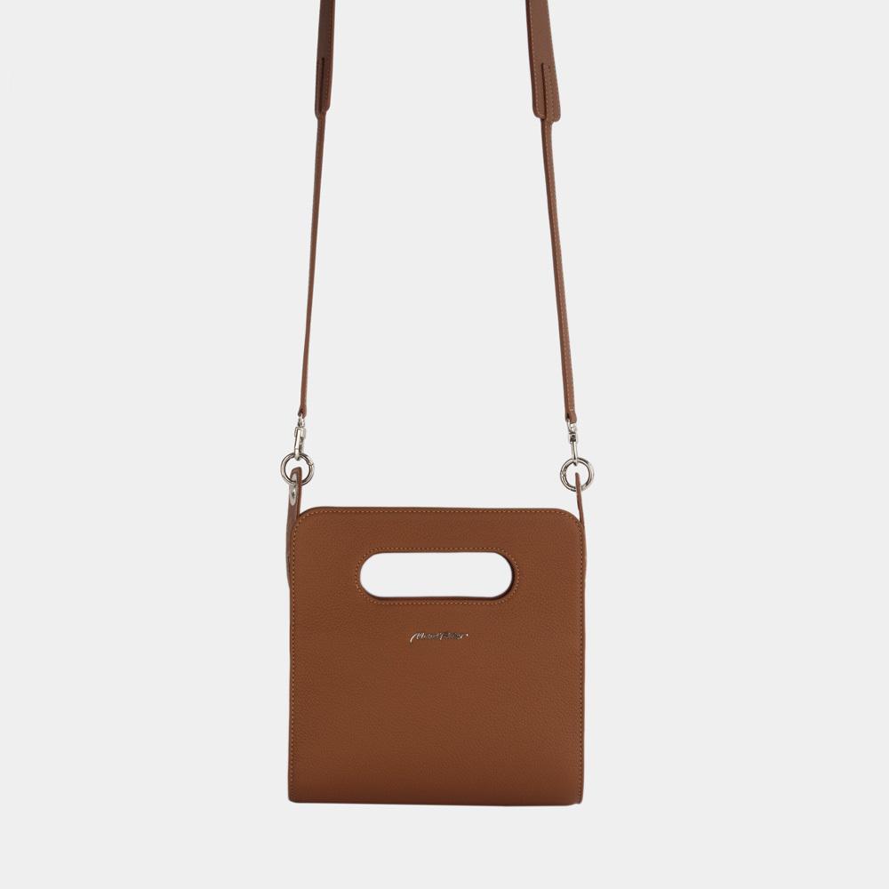 Женская сумка Camille Easy из натуральной кожи теленка,  цвета карамели