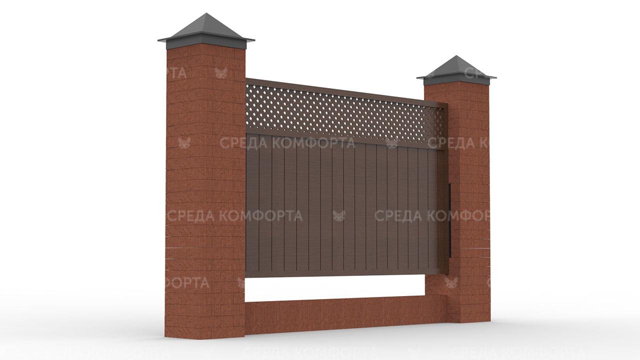 Деревянный забор ZBR0092