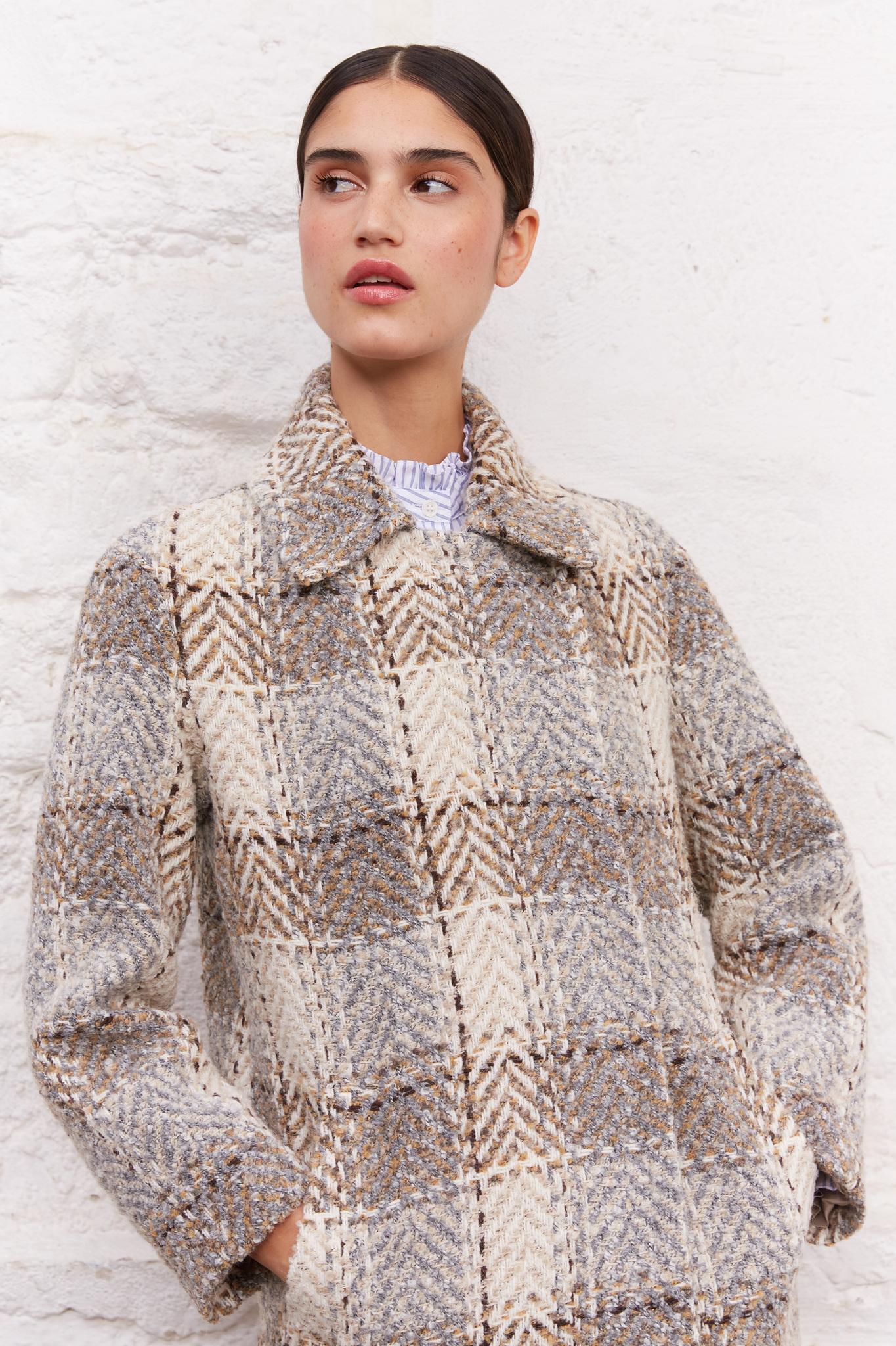 SIANA - Твидовое пальто-оверсайз