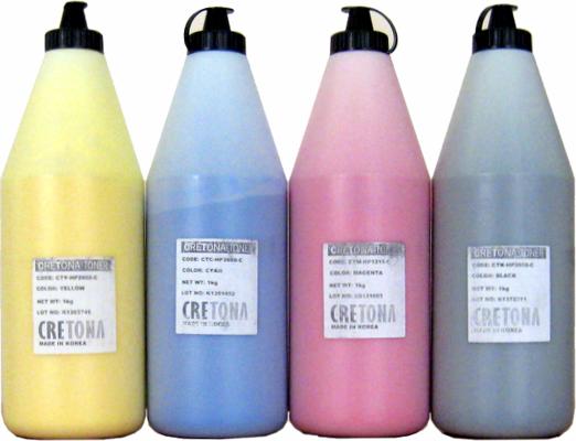 Тонер цветной CRETONA KOREA Q6002A (CTY-HP2600-C) желтый (yellow), упаковка 1кг.