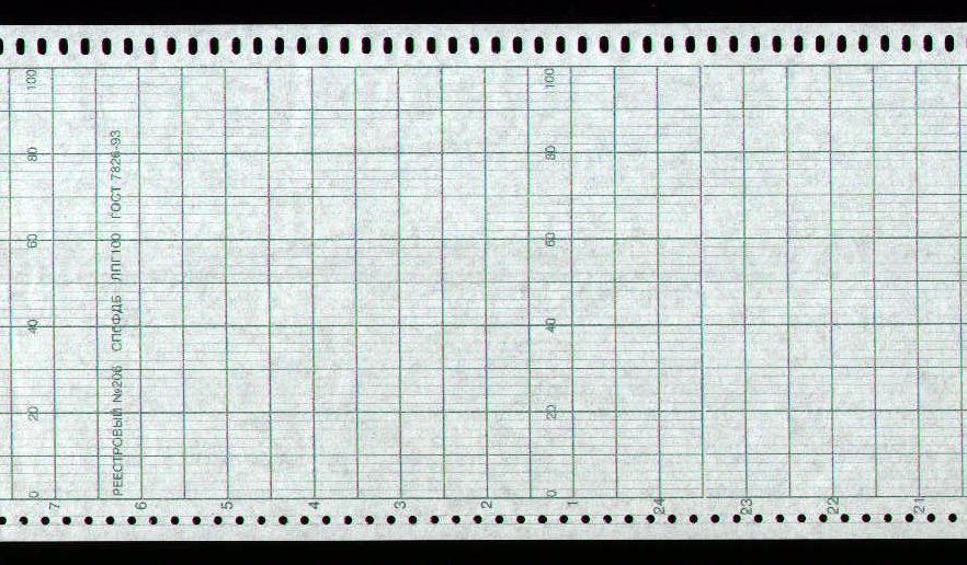 Диаграммная рулонная лента, реестровый № 206 Альфалог (53,550 руб/кв.м)